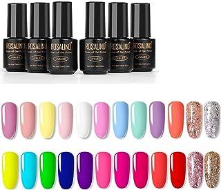 VOXURY Esmaltes Semipermanentes de Pastel 24 Colores de Neón Esmaltes de Uñas en Gel UV LED para Manicura 7ml