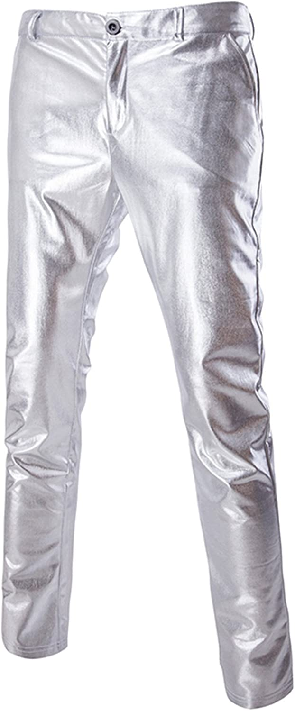ZEROYAA Mens Night Club Metallic Gold Tr Straight Ranking TOP9 Suit Spring new work Pants Leg