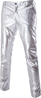 metallic silver suit