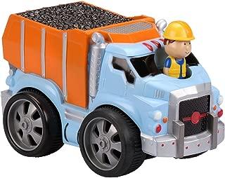 Kid Galaxy 10943 Pullback Dump Truck with Moving Driver, Orange, Blue
