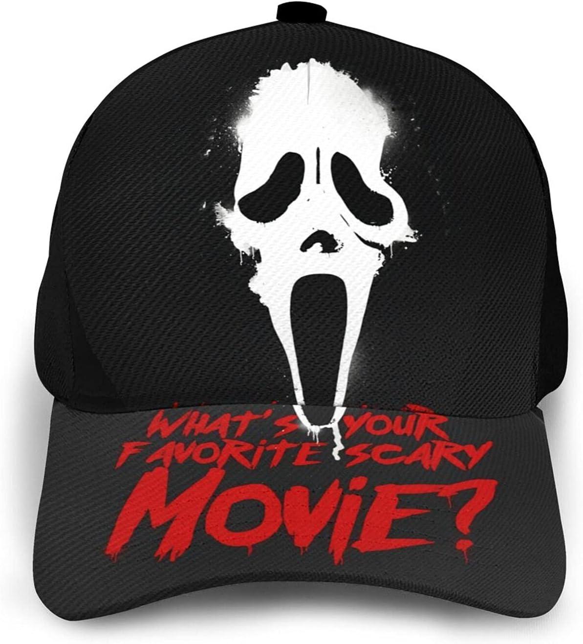 GFDER Halloween Horror Movie Ghostface Athletic Baseball Cap Dad Hat Ball Hat Cowboy Hat Beach Sun Hat