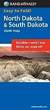 Easy To Fold: North Dakota, South Dakota (Rand McNally Easyfinder)