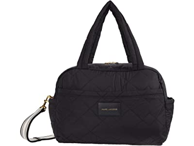 Marc Jacobs Quilted Nylon Medium Bag (Black) Duffel Bags