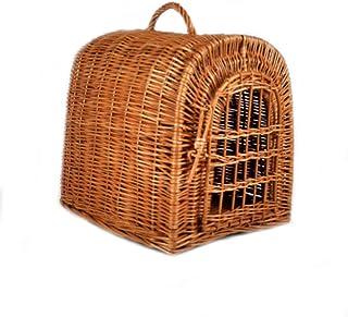 PM24 Preciosa cesta para gato de ratán, con cierre, trenzad