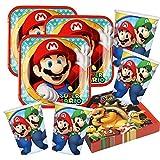 Unbekannt Set di Accessori per Feste Super Mario Nintendo, 52 Pezzi