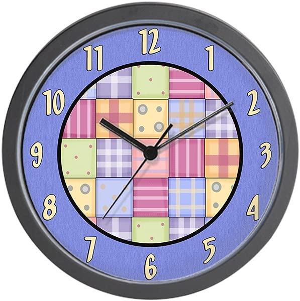 CafePress Patchwork Quilt Unique Decorative 10 Wall Clock