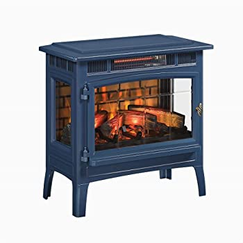 Duraflame 3D Infrared Electric Fireplace Stove with Remote Control - DFI-501 (Navy)
