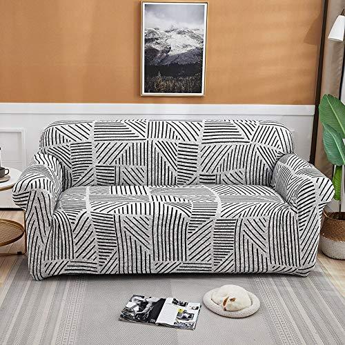 Juego de Fundas elásticas para sofá para Sala de Estar, sofá, Toalla, Fundas de sofá Antideslizantes para Mascotas, Funda de sofá elástica A22, 3 plazas