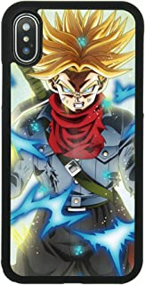 Dragon Ball DBZ Z Trunks Theme Case for iPhone X, iPhone Xs Comic TPU Silicone Gel Edge + PC Bumper Case Skin Protective Custom Designed Printed Phone Protector Full Protection Cartoon Cover