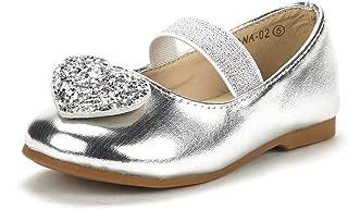 DREAM PAIRS Girl's Toddler/Little Kid/Big Kid Tiana Mary Jane Ballerina Flat Shoes