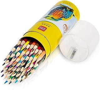 مداد رنگی Deli 48 Pack با تیز کننده داخلی در درپوش لوله ، مداد رنگی پر رنگ برای معلمان بچه های مدرسه ، مداد نقاشی نرم نرم برای رنگ آمیزی ، طراحی و نقاشی
