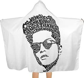 VIMMUCIR1 Hooded Throw Blanket, Bruno Singer Mars Logo Wearable and Hooded Blankets Cozy Warm Blanket for Men Women Kids