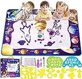 Smarkids Wasser Doodle Matte 100*70 cm Wasser Zeichnen Malmatte mit Magic Stifte Wiederverwendbare Aqua Zeichnung Drawing Painting Matte Wasser Malmatte Aqua Magic Doodle Matte für Kinder Baby Toddler -