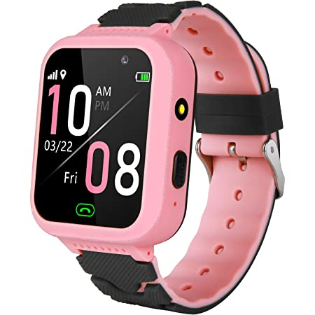 Kids Smart Watch for Boys Girls –Kids Smartwatch with Call GPS Tracker SOS Anti-Lost Remote Camera Alarm Clock Learning Game Watch Touch Screen Children Smart Watch Birthday Gifts for Kids Age 4-12