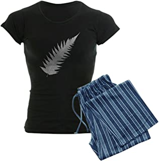 CafePress Silver Fern Aotearoa Womens Novelty Cotton Pajama Set, Comfortable PJ Sleepwear