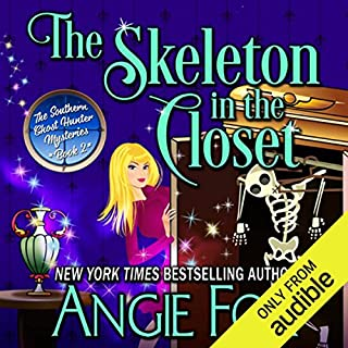 The Skeleton in the Closet     Southern Ghost Hunter Mysteries, Book 2              Written by:                                                                                                                                 Angie Fox                               Narrated by:                                                                                                                                 Tavia Gilbert                      Length: 6 hrs and 43 mins     4 ratings     Overall 4.5