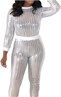 Lange Hose SASOFIA Damen Trainingsanzug Jogginganzug Sportanzug Camouflage Sport Yoga Outfit Hausanzug Fitnessanzug Zweiteiler Sportswear Kurz Lange /Ärmel Top