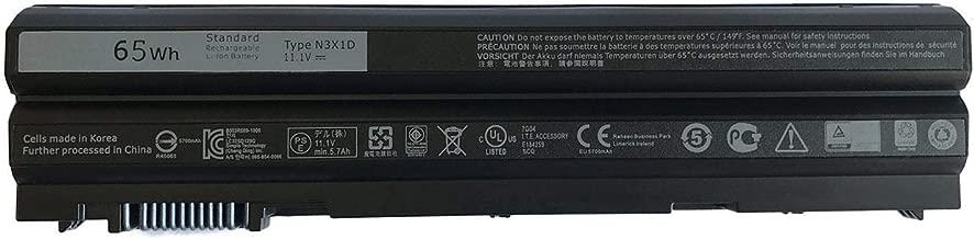 FLIW N3X1D Replacement Battery Compatible with Dell Latitude E6540 E6440 E5530 E5430 E6520 E6420 Precision M2800 6 Cell (11.1V 65Wh)