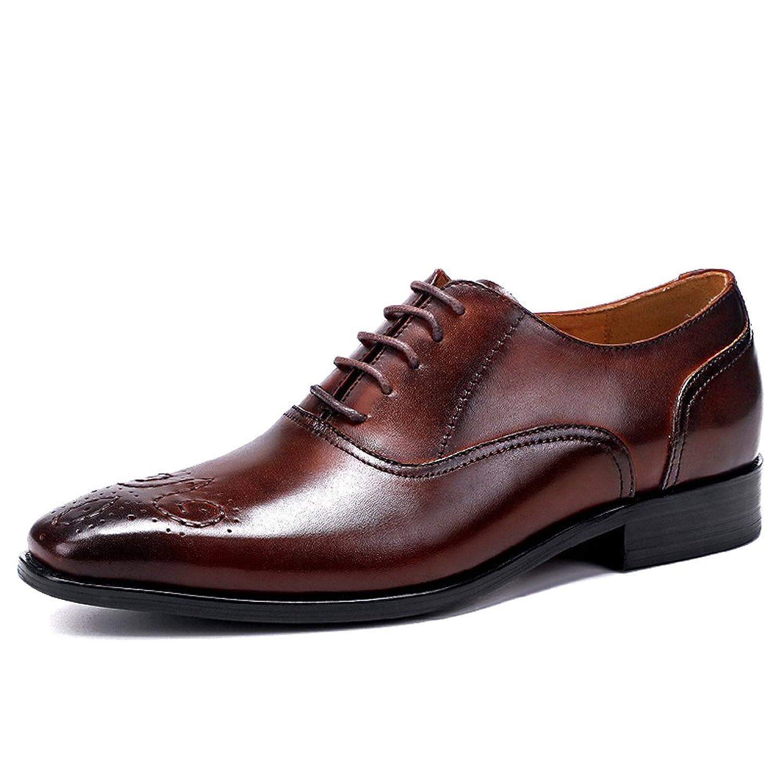 [アシアー] Asier ビジネスシューズ メンズ ストレートチップ 紳士靴 内羽根 革靴 本革 ASI-611