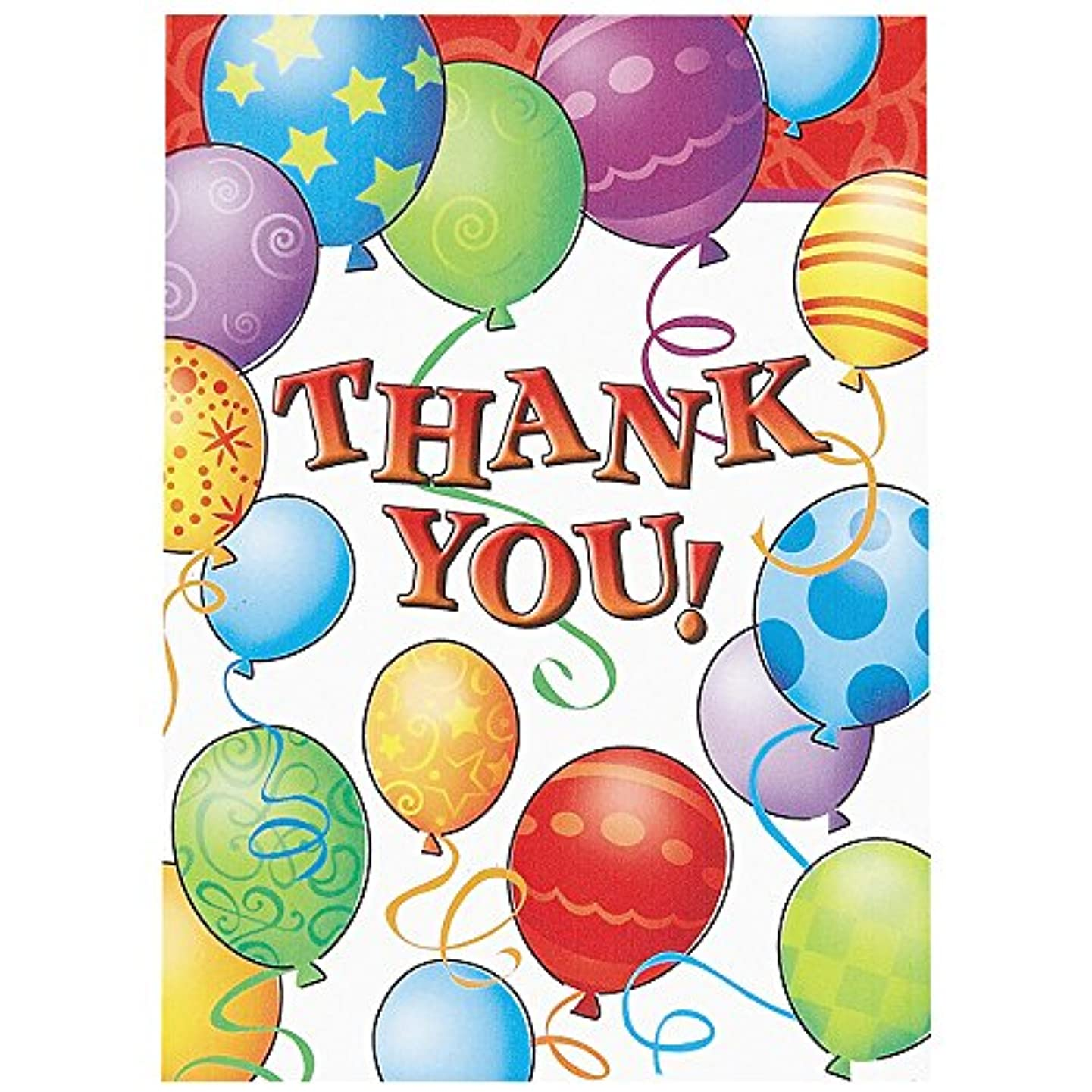 Balloons Birthday Thank You Note Cards, 8ct diikonzbcwur