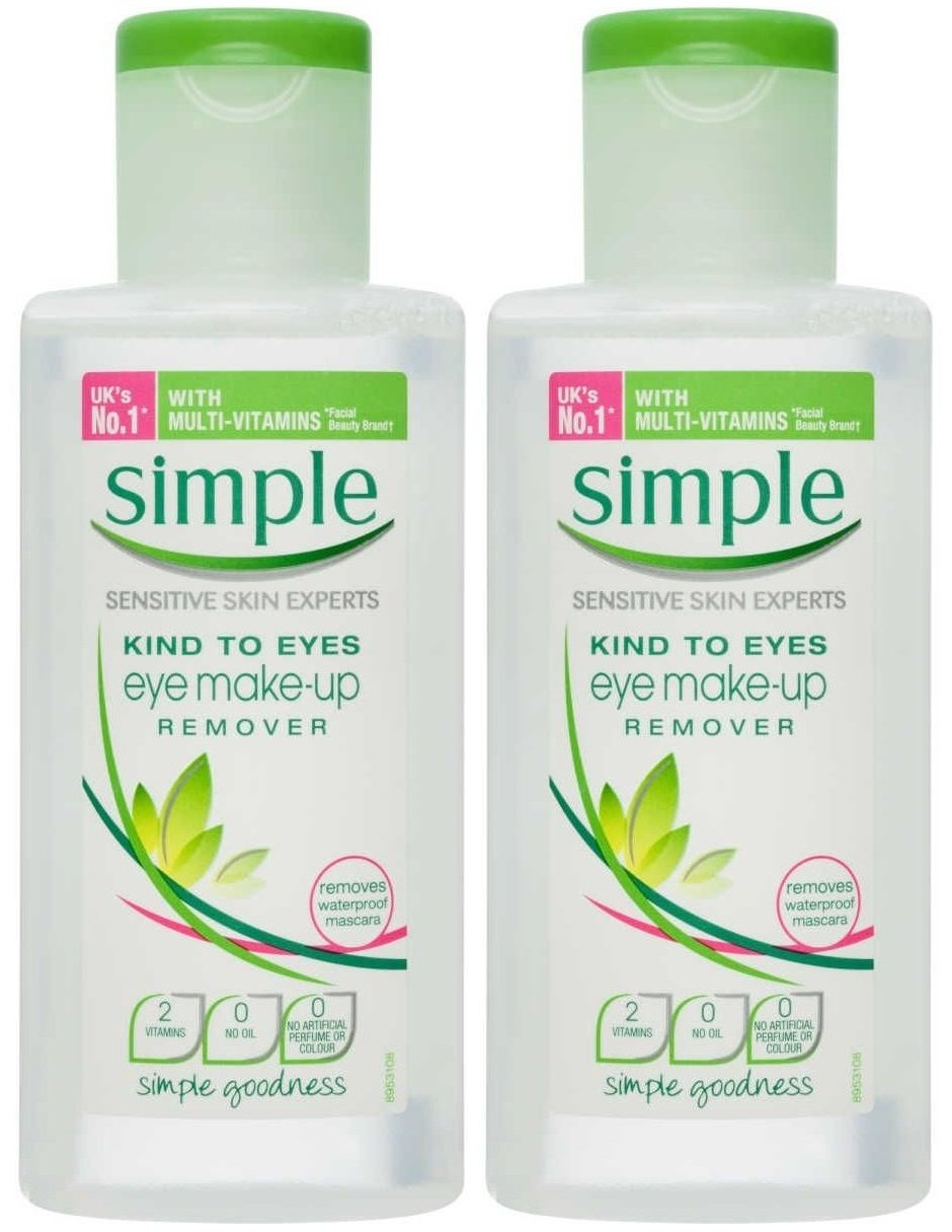 Simple Kind To Eyes Eye Makeup Remover, 4.2 Ounce (Pack of 2) : Eye Makeup Removers : Beauty
