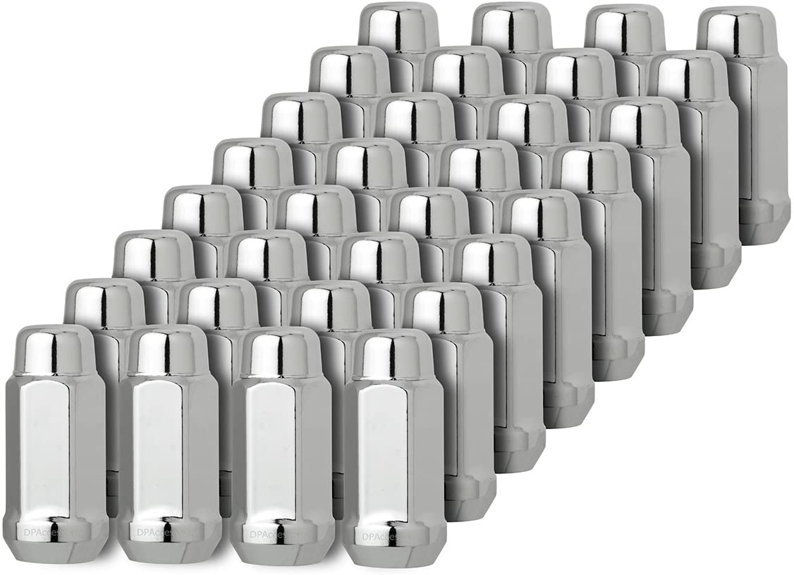 24PC FOR FORD CHROME 3//4/'/' HEX CONICAL SEAT 1//2-20 WHEEL LUG NUTS BULGE ACORN