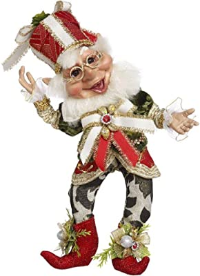 Mark Roberts 2020 Limited Edition Collection Present Elf Figurine, Small 11'' - Deluxe Christmas Decor and Collectible