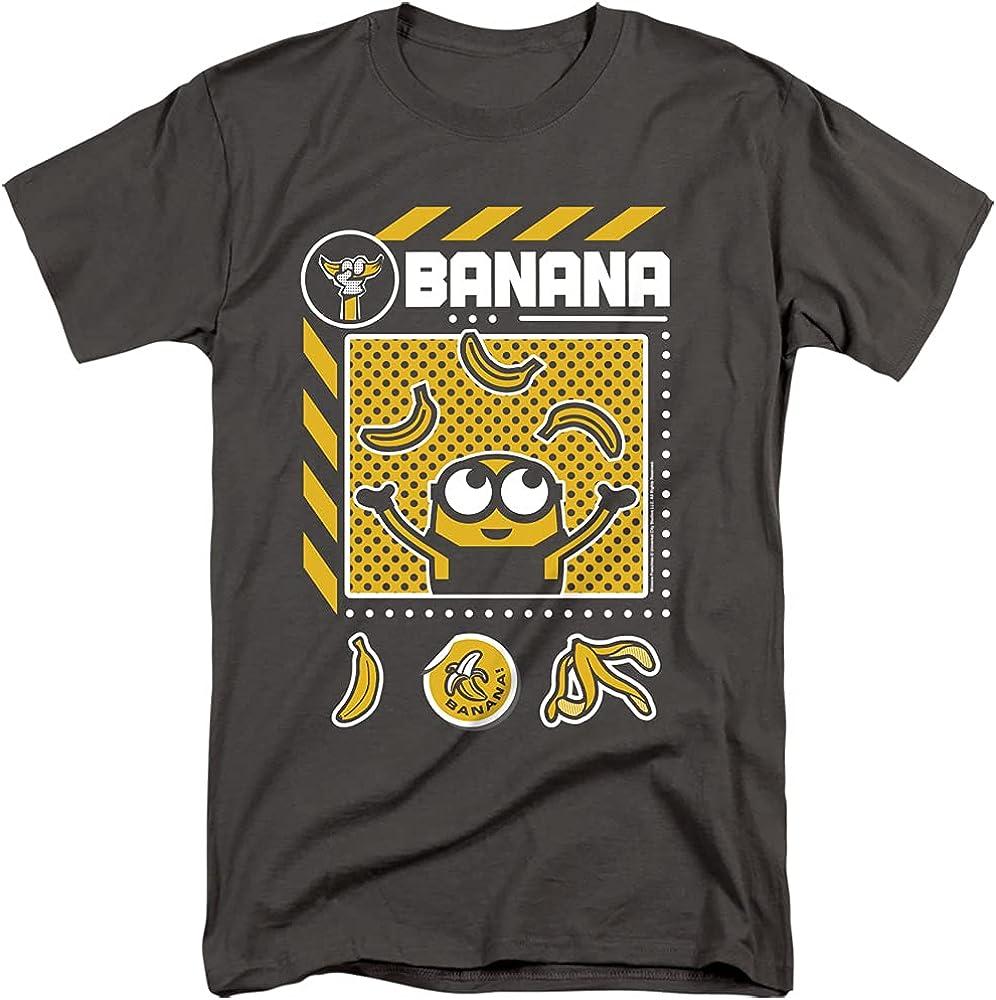 Minions Banana Icons Unisex Adult Tall T Shirt