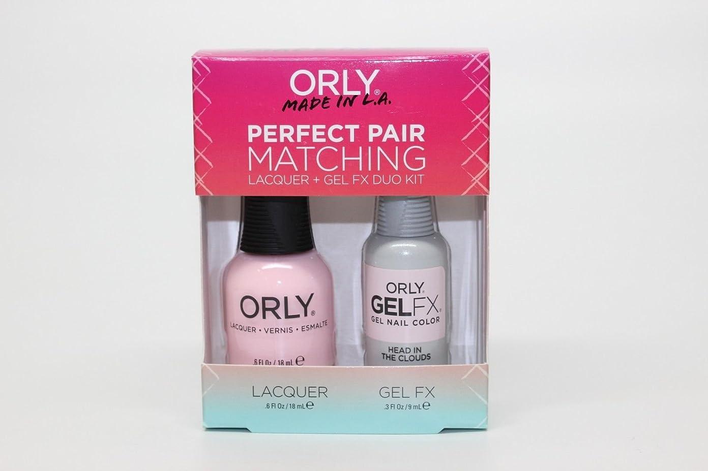 ダブルシュリンク決定するOrly - Perfect Pair Matching Lacquer+Gel FX Kit - Head In The Clouds - 0.6 oz / 0.3 oz
