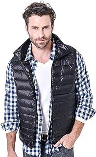 LvRao Mens Lightweight Down Gilet Stand Collar Quilted Autumn Vest Packable Sleeveless Waistcoats