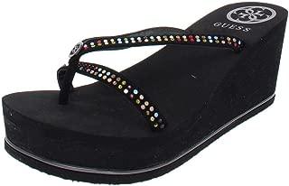 guess women's selya platform wedge sandals