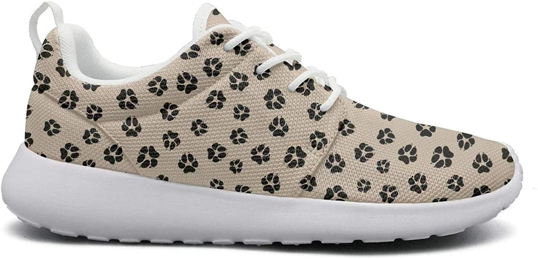 Wuixkas American Bulldog Footprints Womens Lightweight Mesh Sneakers Jogger Running shoes