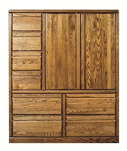 Great Features Of Forest Designs Bullnose Eight Drawer Armoire Chestnut Oak