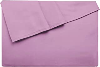 LiveComfort Flat Sheet, King Size Extra Soft Brushed Microfiber Flat Sheet, Machine Washable Wrinkle-Free Breathable (Purple, King)