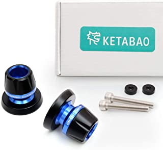 KETABAO Blue M8 Rear Swingarm Stand Spools Protectors For GSXR 1000 00-17 GSXR 600 750 GSX 1300 R V STROM 650 1000 04-17
