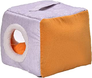 Laishutin Cama del Animal Doméstico Pet Nest Kennel Cat Litter Cómodo Warm Dog House Universal Uso en Interiores, Exterior...