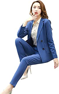 [美しいです] レディース スーツ コート ラシャ 九分パンツ セット チェック柄 二点セット 折り襟 長袖 レジャー OL スリム 春 秋 就活 通勤 ビジネス用 面接