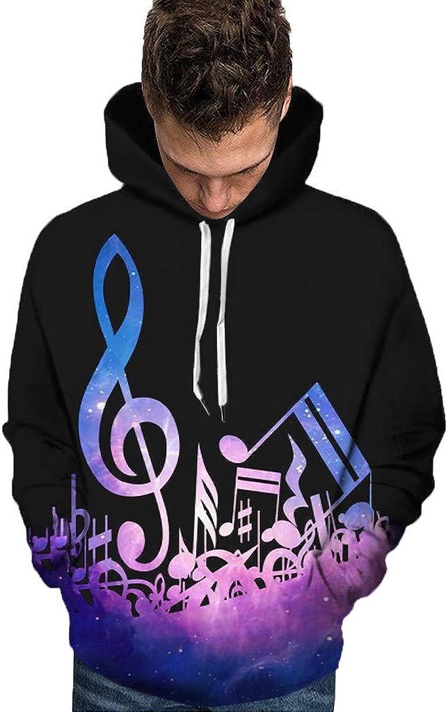 Bolayu Men's 3d Music Hoodie Heart Treble Max 84% OFF Appar Clef Max 55% OFF Symbol Bass