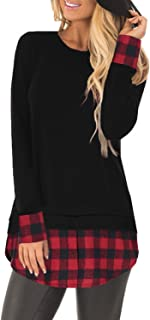 red and black checkered shirt womens