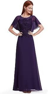 Women's Elegant Cap Sleeve Long Evening Dress 08775