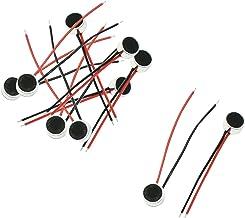 Uxcell 10 عدد 6 میلی متر 3.5 میلی متری 2 سیم مسی میکروفن خازن الکتروتیک