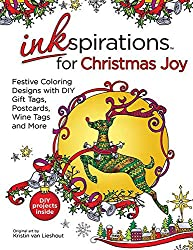 Festive Coloring Designs with DIY Gift Tags, Postcards, Wine Tags and More