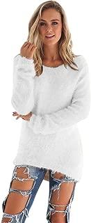 Mujer Otoño e Invierno Moda Casual Color sólido Manga Larga Suave y cómodo Felpa Cuello Redondo Jerseys Jumper Blusa