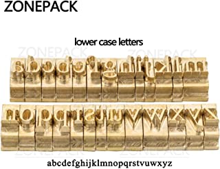 ZONEPACK Copper Brass Stamping Flexible Alphabet Number Symbol Character Stamp Mold Die, Letter Holder, Positioning Plate DIY for Hot Foil Stamping Machine (Lowercase)