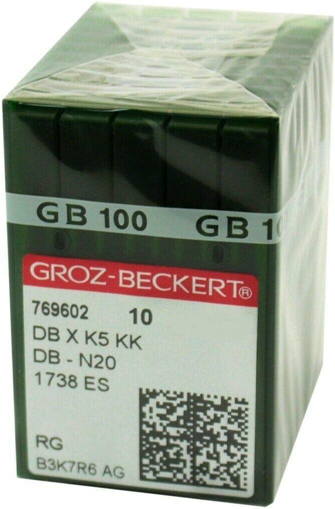 100 Groz Beckert Dbxk5 San1 Gebedur Titanium Coated Embroidery Machine Needles 10//70