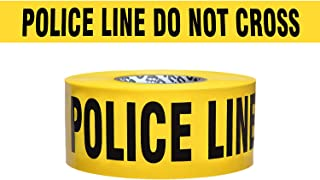 Presco Economy Printed Barricade Tape: 3 in. x 1000 ft. (Yellow with Black