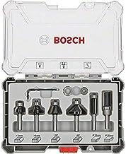 Bosch Professional 6-delige rand- en kantenfrezenset (voor hout, accessoire bovenfrezen met schacht van 8 mm)