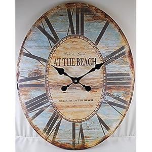 61M4ZfdAmtL._SS300_ Coastal Wall Clocks & Beach Wall Clocks