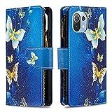 Yiizy Portefeuille Cuir PU Peint Mode Coque pour Xiaomi Mi 11 Lite Etui Housse, Sac de Poche à...