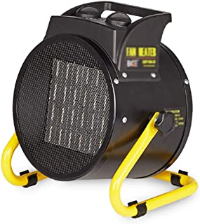 Lattice Calefactor Calentador De Ventilador De Cerámica Eléctrico con Termostato 3 Configuraciones De Calor, Calentador De Ventilador Portátil con Potencia Ajustable Y Control De Termostato